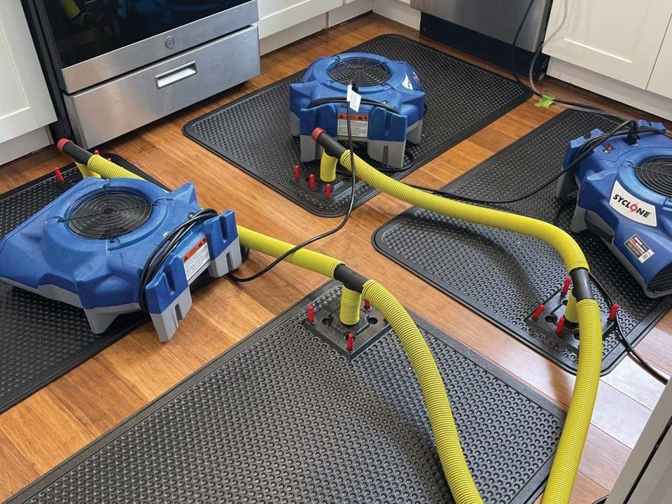 drying out hardwood floors