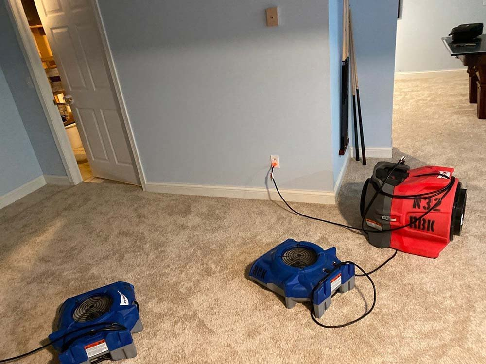basement water damage cleanup in Chardon 2