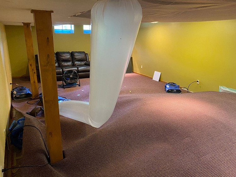 Water damage cleanup in Solon, Ohio