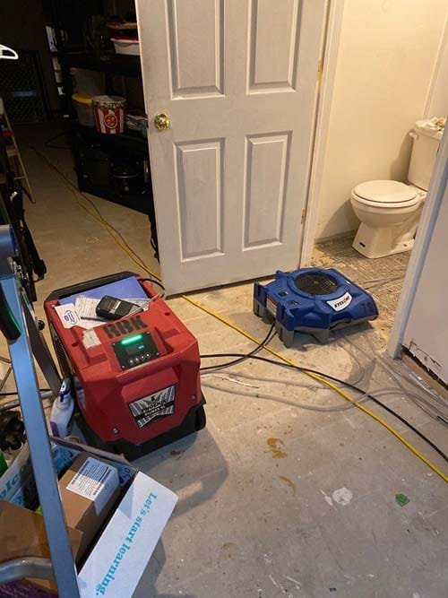 water damage cleanup in Strongsville2