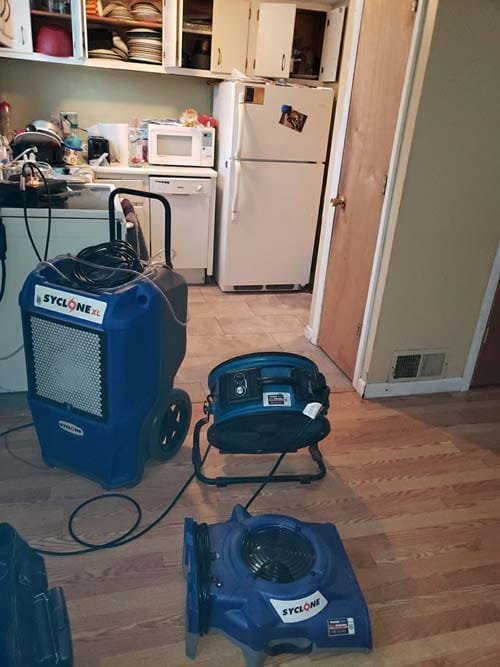 water damage cleanup in Warrensville Heights