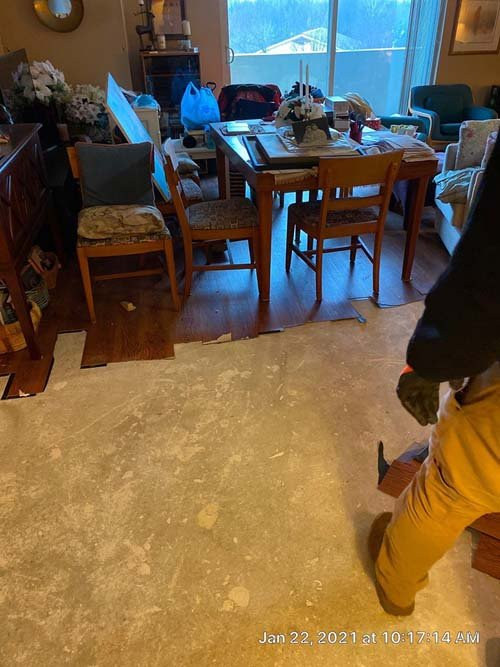 water damage cleanup in Westlake Ohio