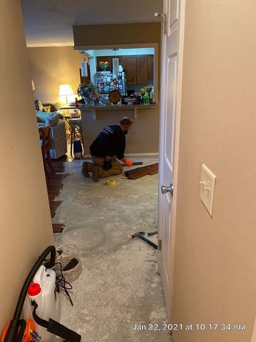 water damage cleanup in Westlake Ohio3
