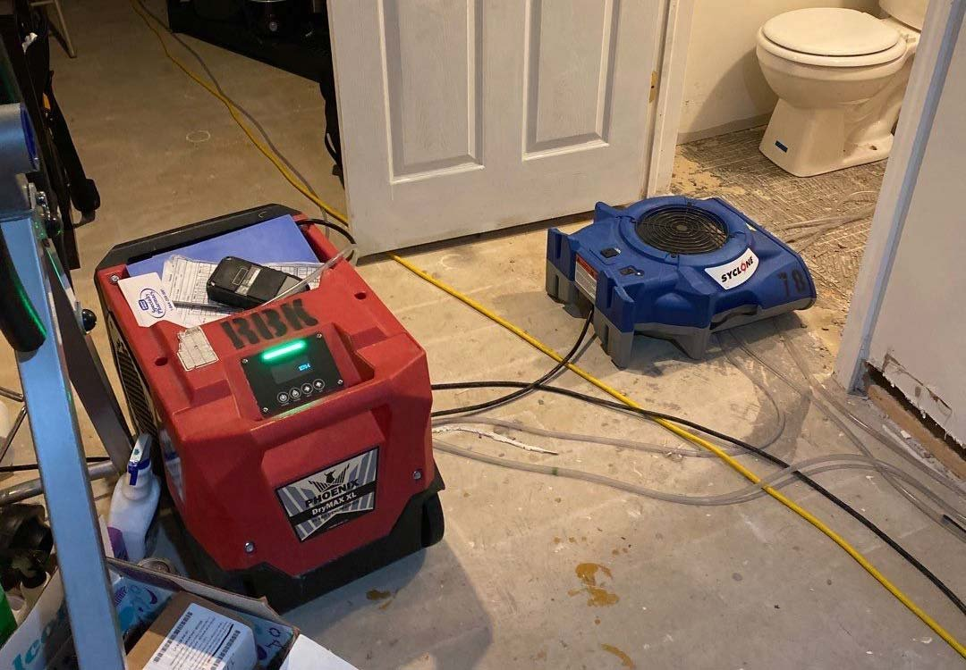water damage cleanup in Strongsville