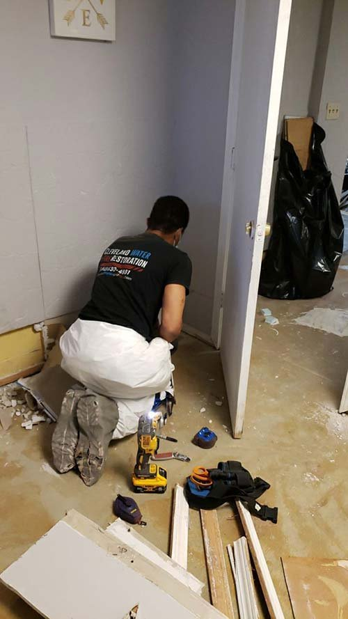 water damage cleanup in Maple Heights Ohio