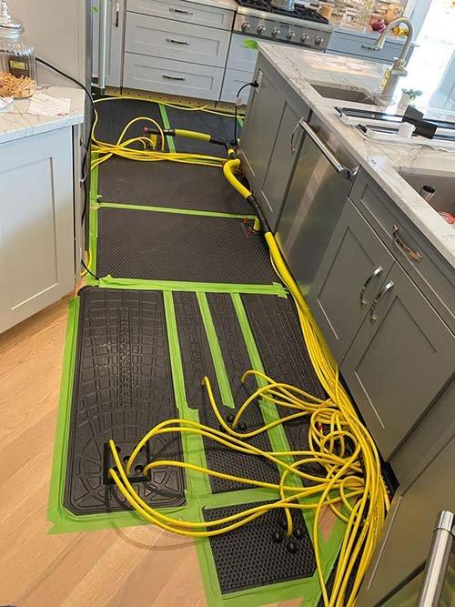 water damage cleanup of hardwood floors2