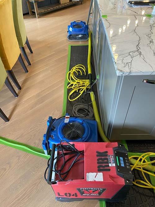 water damage cleanup of hardwood floors 3
